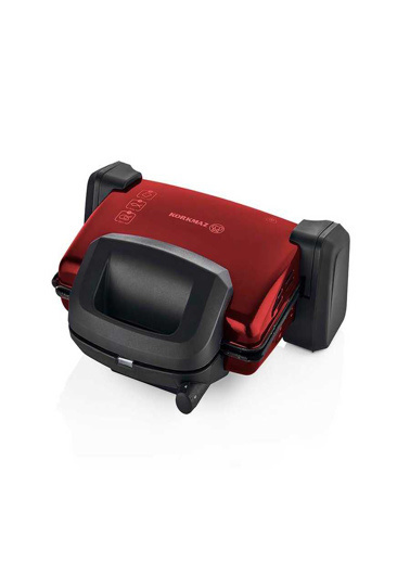 Korkmaz Kompakto Kırmızı/Siyah Small Tost Makinesi Kırmızı